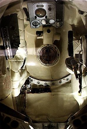 Wnętrze statku kosmicznego Wostok