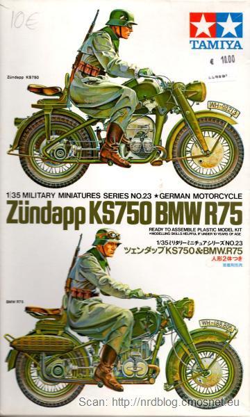 Zestaw do sklejania Tamiya - Zündapp KS750, BMW R75